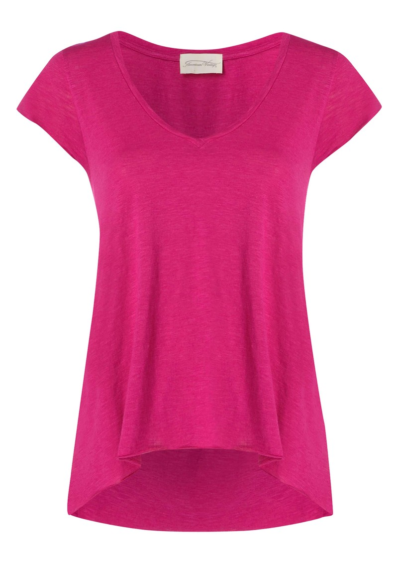 Jacksonville Short Sleeve Top - Fushia main image