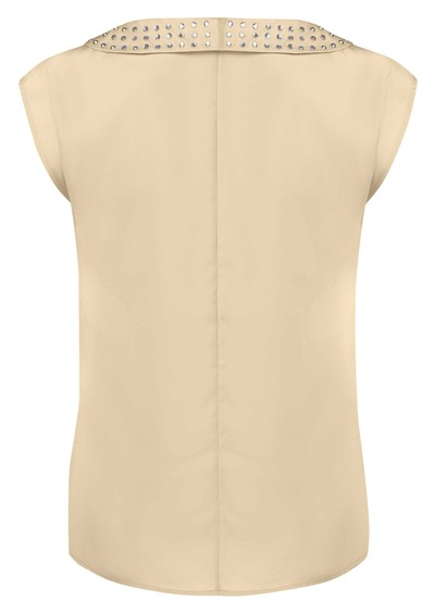 American Retro Diamond Blouse - Nude main image