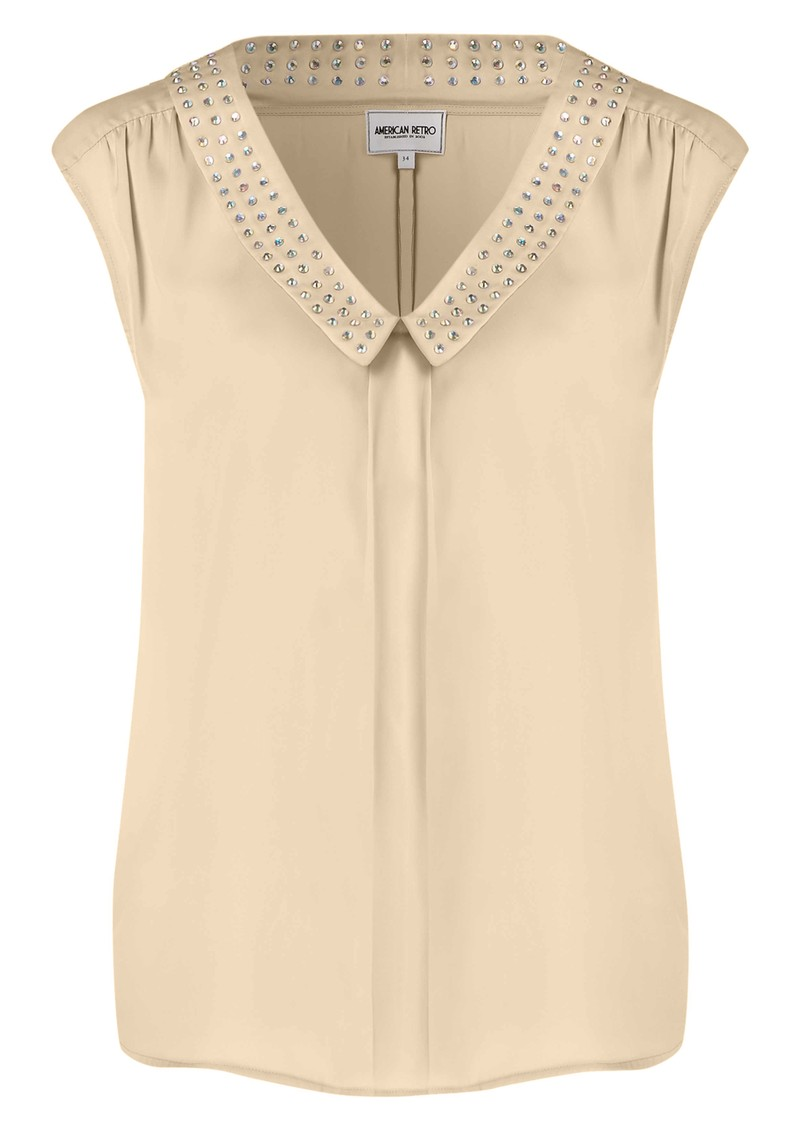 Diamond Blouse - Nude main image