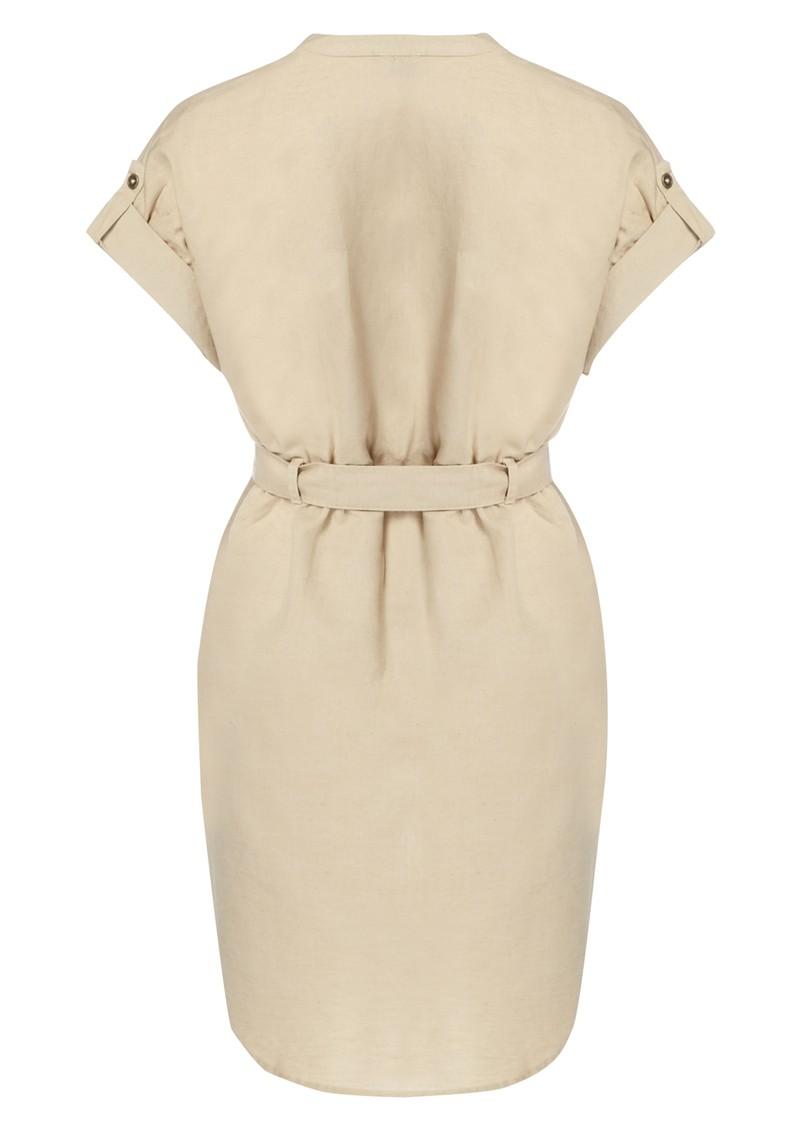 Twist and Tango Courtney Linen Mix Shirt Dress - Sand main image
