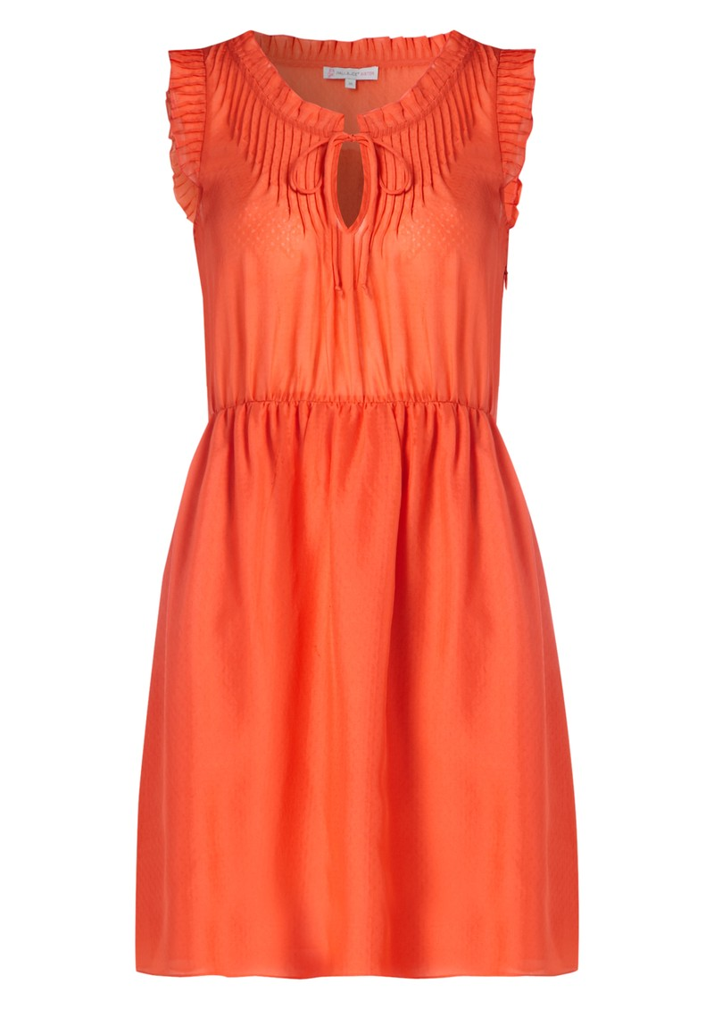 Horane Silk Dress - Coral main image