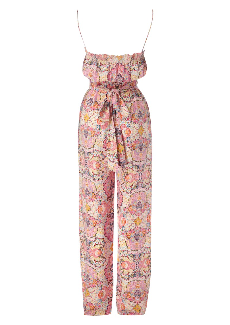 Fantasia Silk Jumpsuit - Pink main image