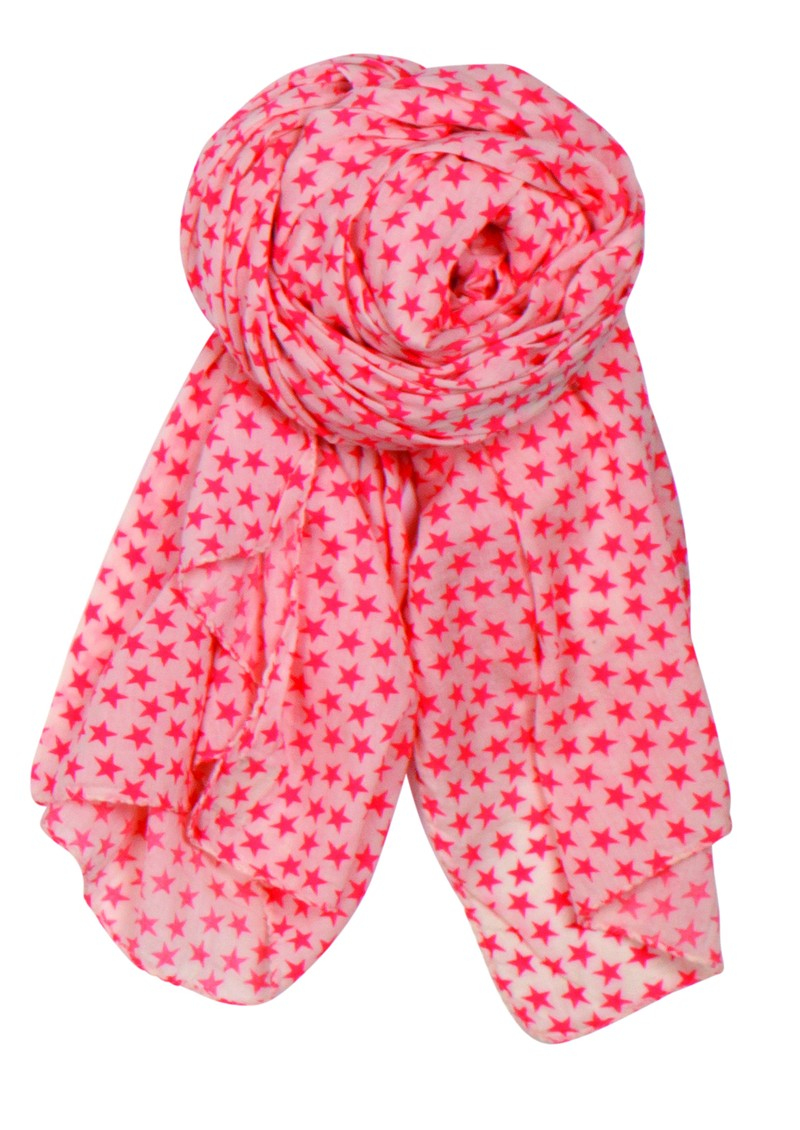 Summer Stars Scarf - Coral Pink main image