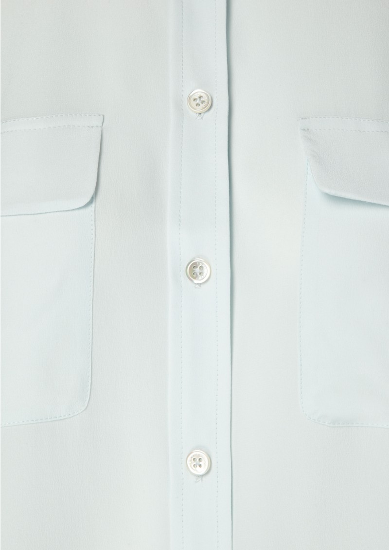 Signature Silk Shirt - Ice Blue main image