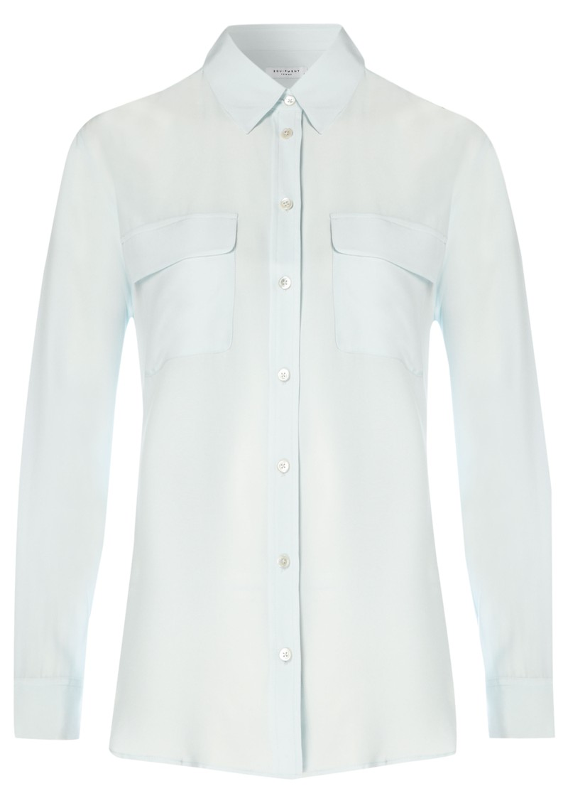 Equipment Signature Silk Shirt - Ice Blue main image