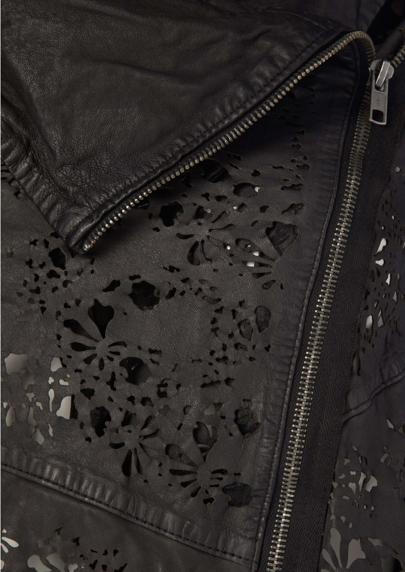Turna Laser Leather Jacket - Black main image
