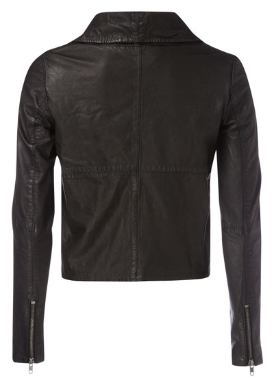 Muubaa Turna Laser Leather Jacket - Black main image
