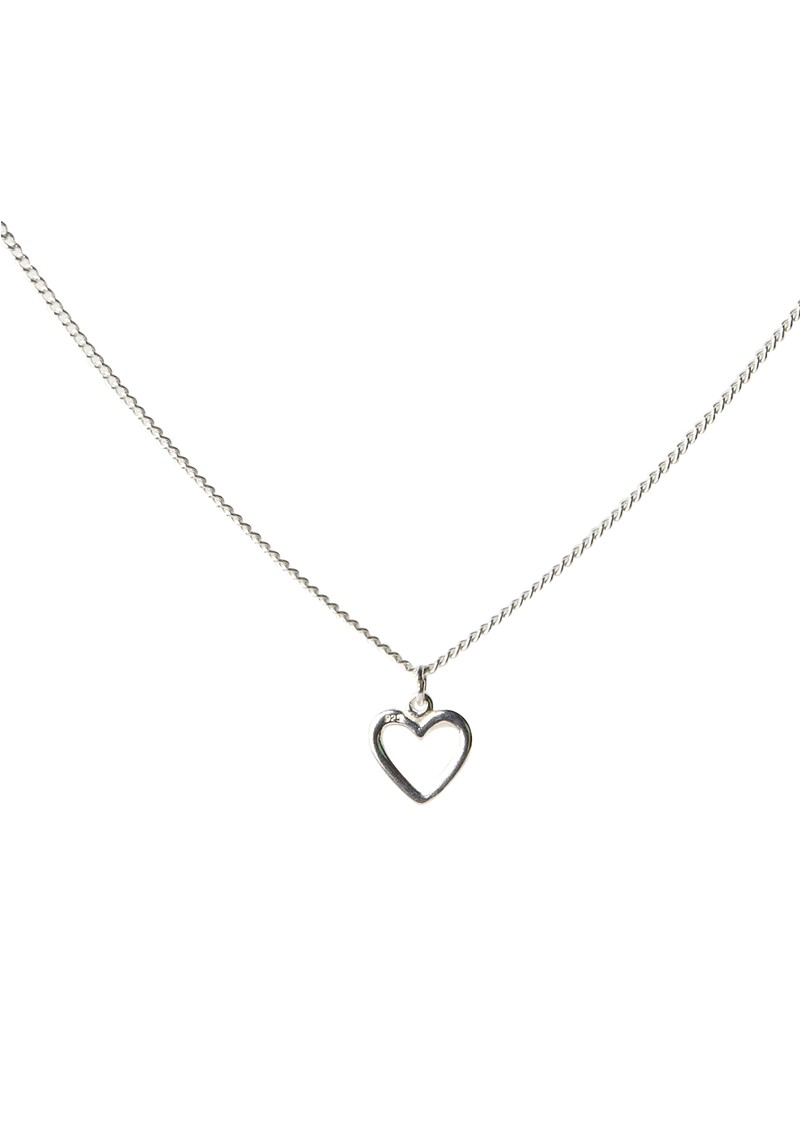 ChloBo Exclusive Mini Chain Silver Necklace with Heart Charm main image