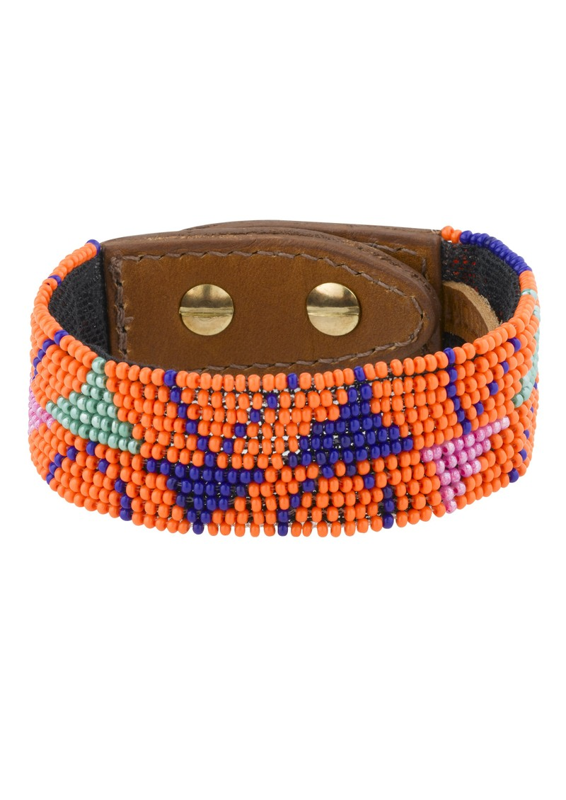Amaris Bead Cuff - Orange main image