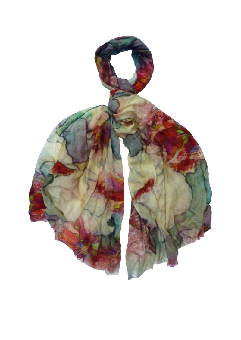 Lily and Lionel Mirren Flower Print Scarf - Multi main image