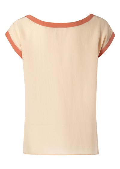 American Retro Mummy Silk Tee - Peach main image