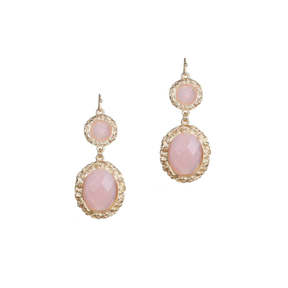 Drop Earrings  Pink