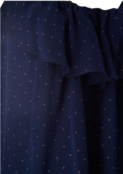 Pyrus Pop Polka Dot Top - Marine main image