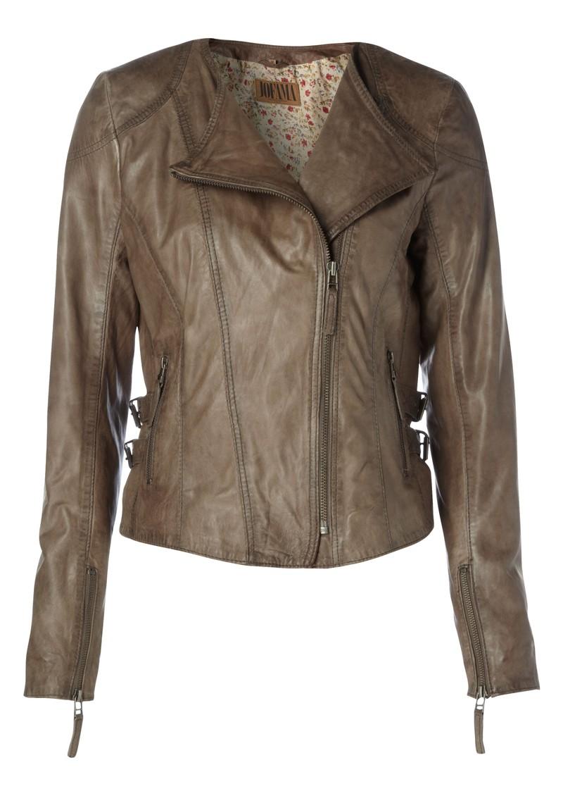 Jofama Daisy Leather Jacket - Dark Grey main image