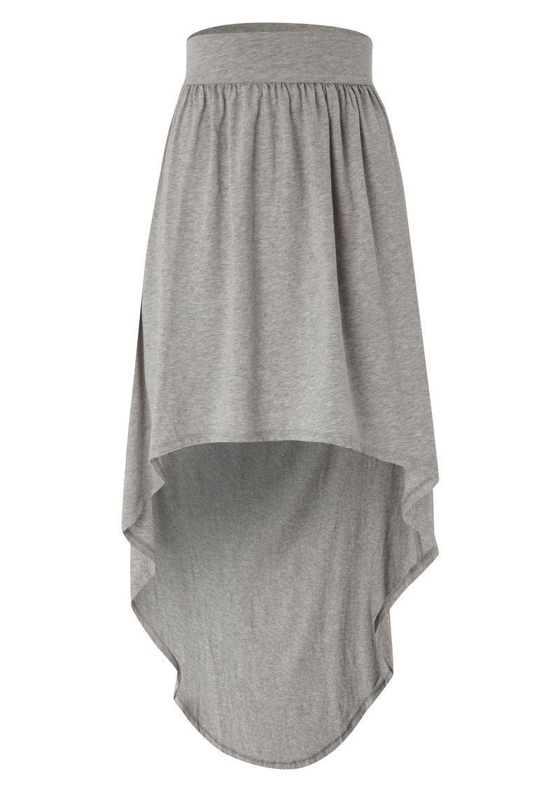 Jersey Hankie Skirt - Heather Grey main image