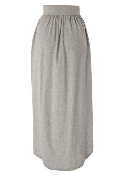 Bobi Jersey Hankie Skirt - Heather Grey main image
