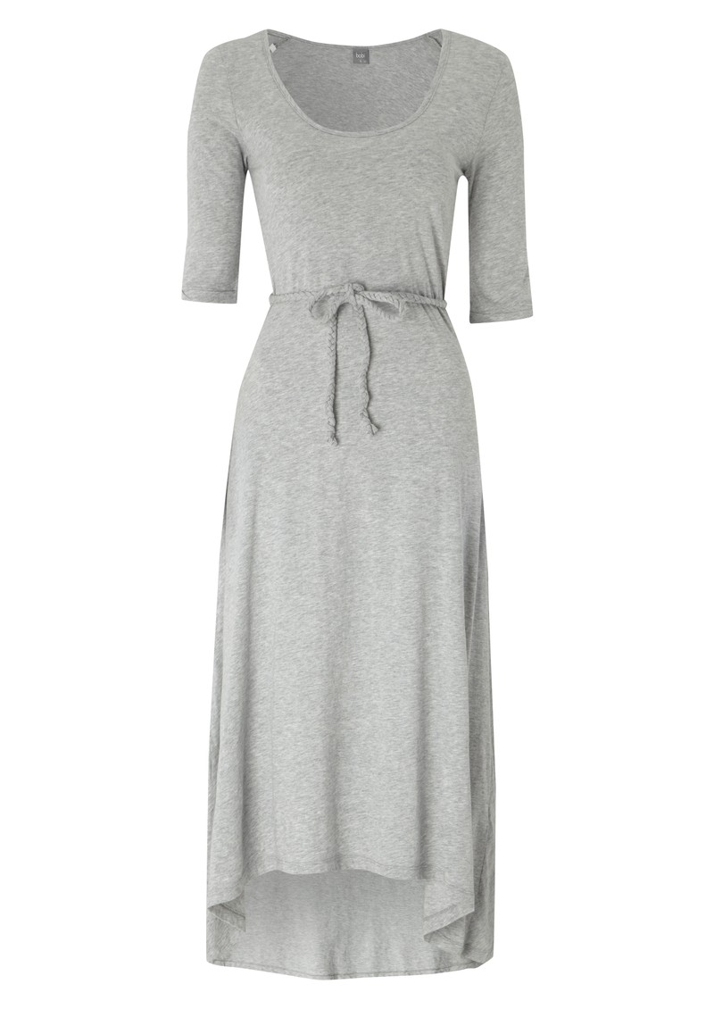 Bobi Jersey Belted Maxi Dress - Heather Grey main image
