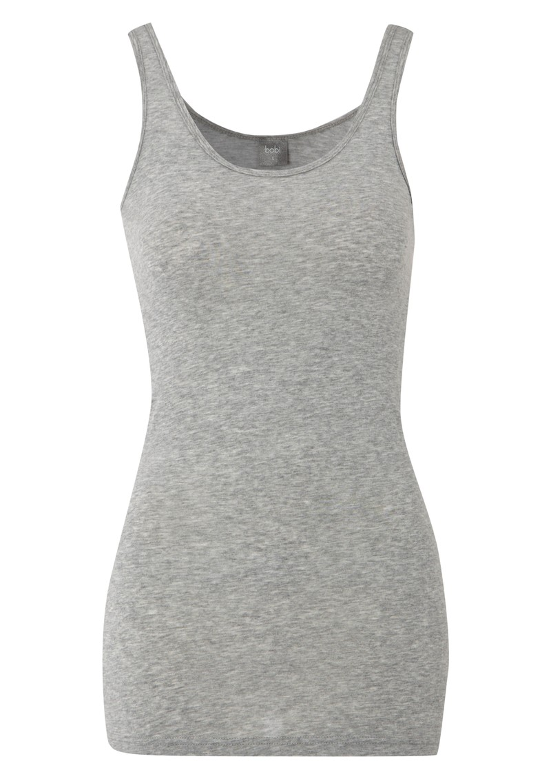 Long Jersey Tank - Heather Grey main image