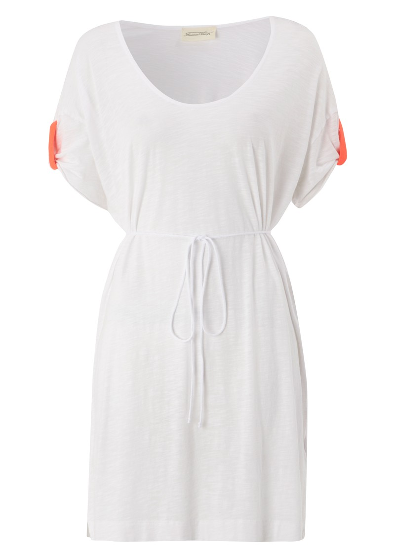 Jacksonville U Neck Dress - White main image