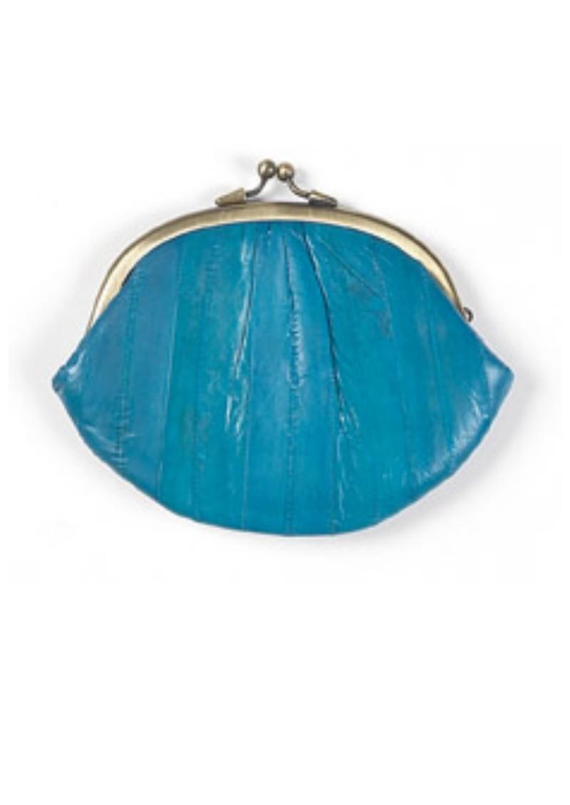 Becksondergaard Eel Skin Granny Purse - Turquoise main image