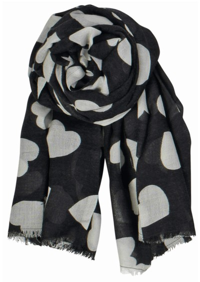 Becksondergaard Supersize Heart Scarf - Black main image