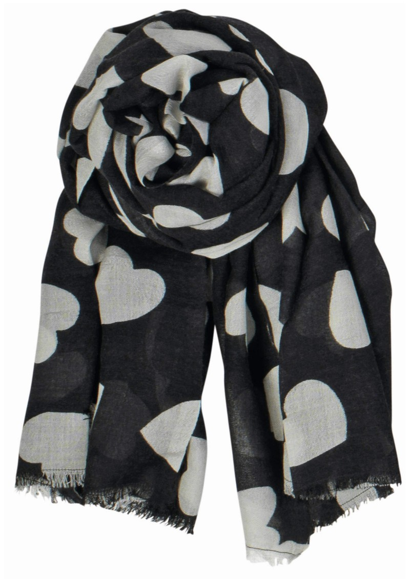 Supersize Heart Scarf - Black main image