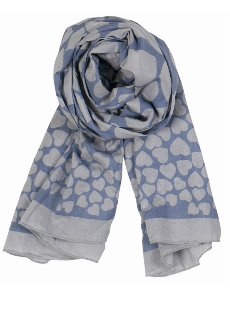 World Of Hearts Scarf - Blue Sky main image
