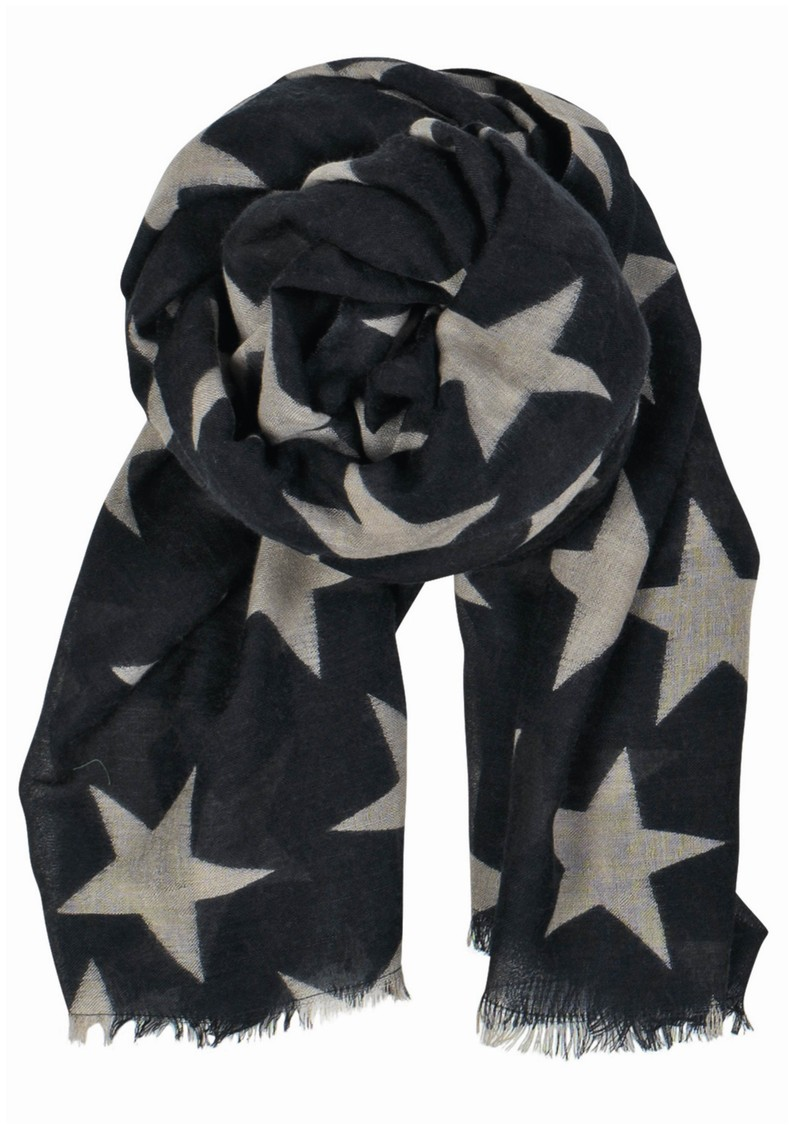 Supersize Nova Star Silk Blend Scarf - Navy main image