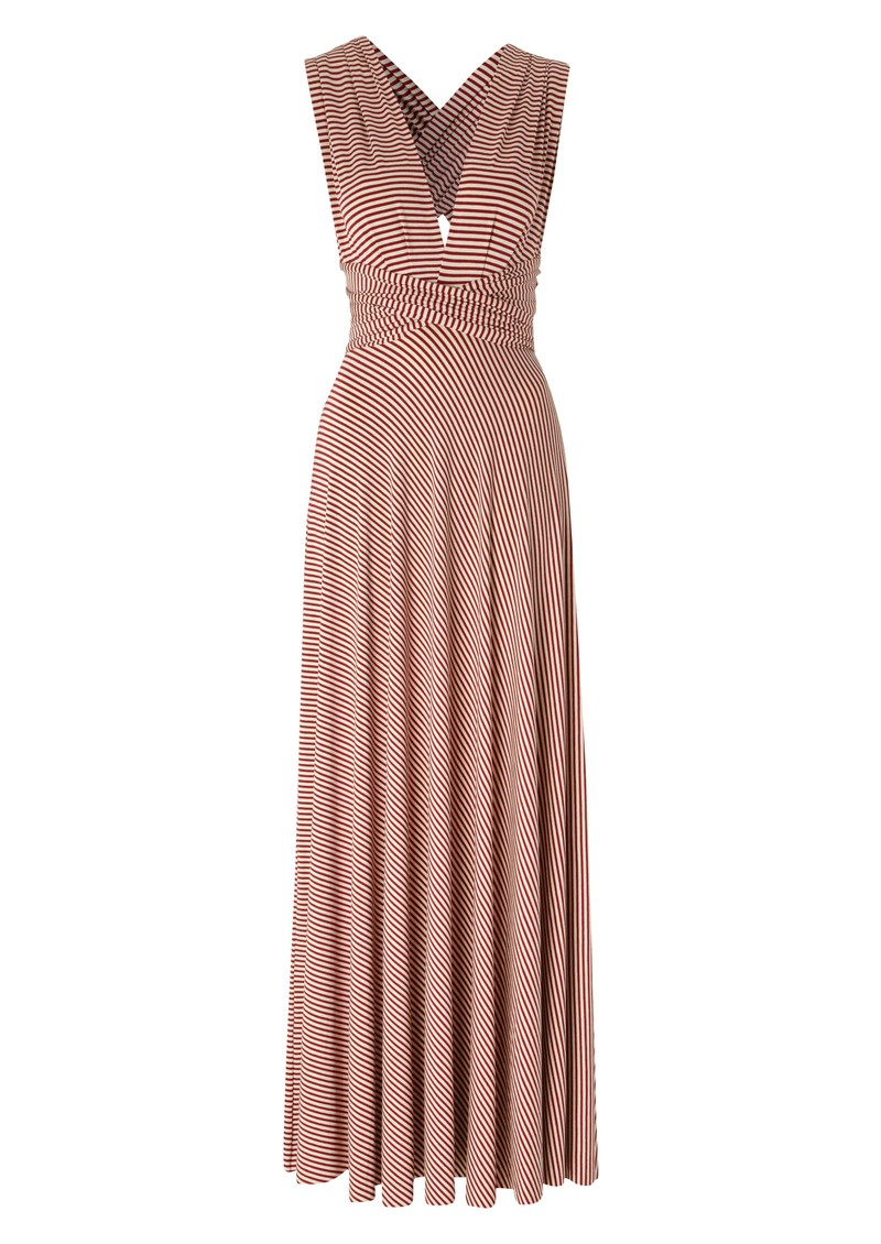 Signature Long Jersey Wrap Gown - Pinred main image