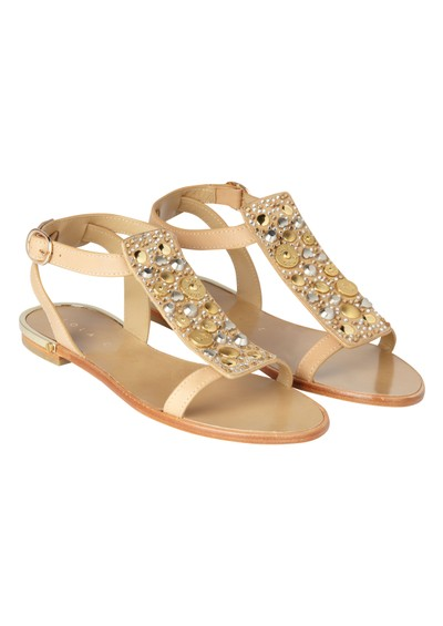 Lola Cruz Flat Sandals - Beige main image