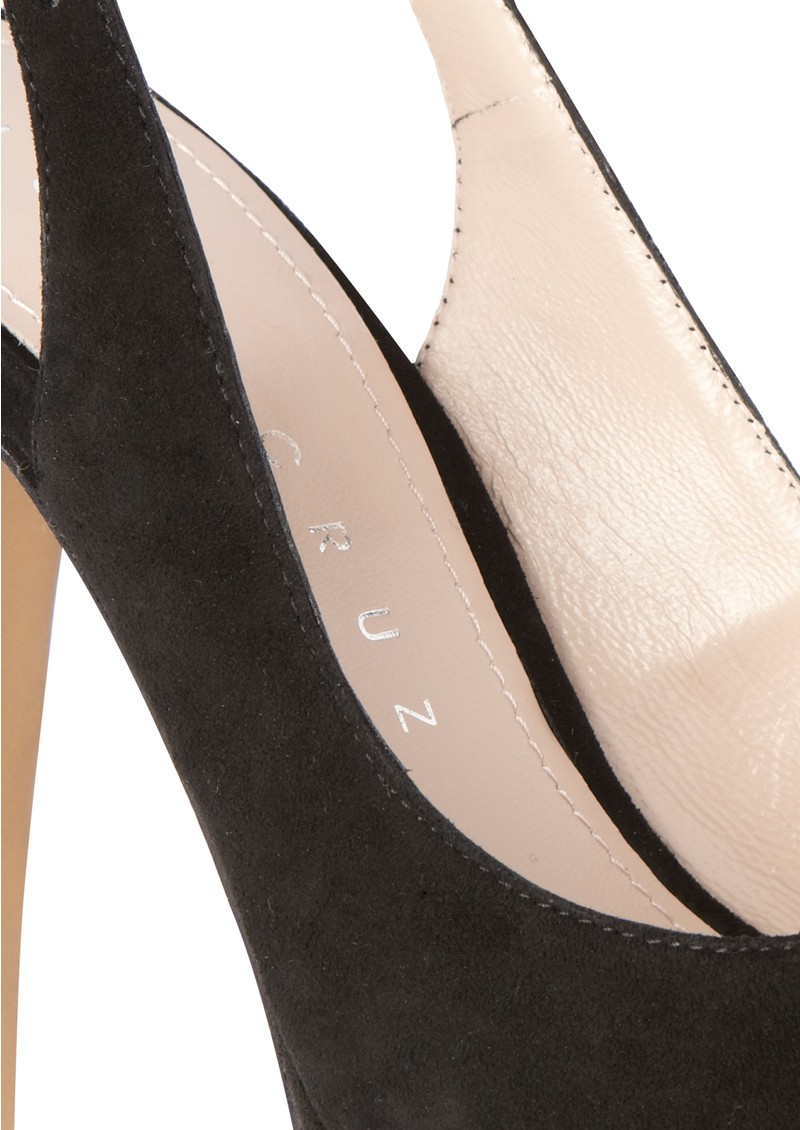 Lola Cruz Peep Toe Slingbacks - Black main image