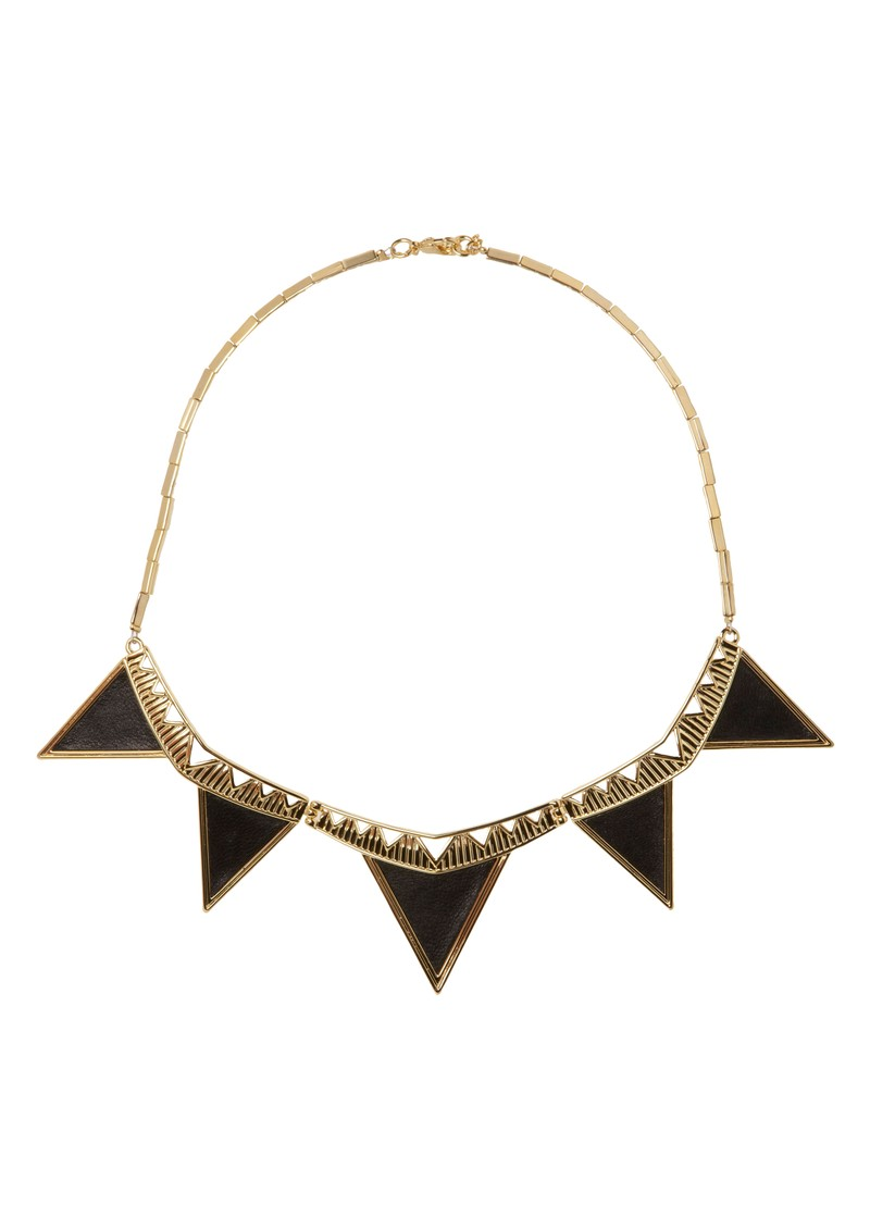 House Of Harlow Triangle Necklace - Black main image