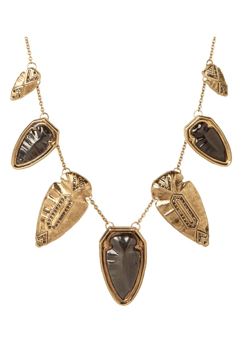 Multi Arrow Head Necklace - Gold main image