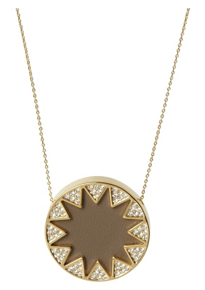House Of Harlow Double Sunburst Necklace - Khaki main image
