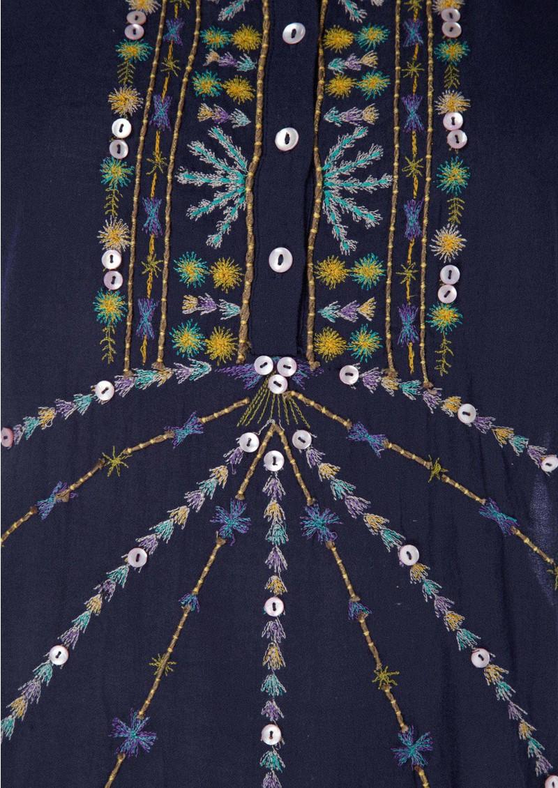 Antik Batik Darcy Tee - Indigo main image