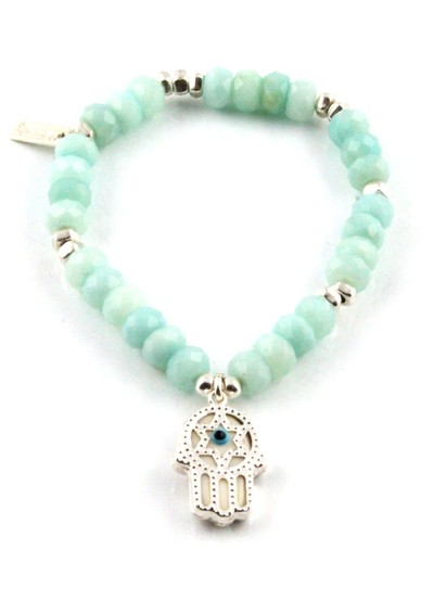 ChloBo Dreamlands Large Amazonite Hamsa Hand Bracelet main image