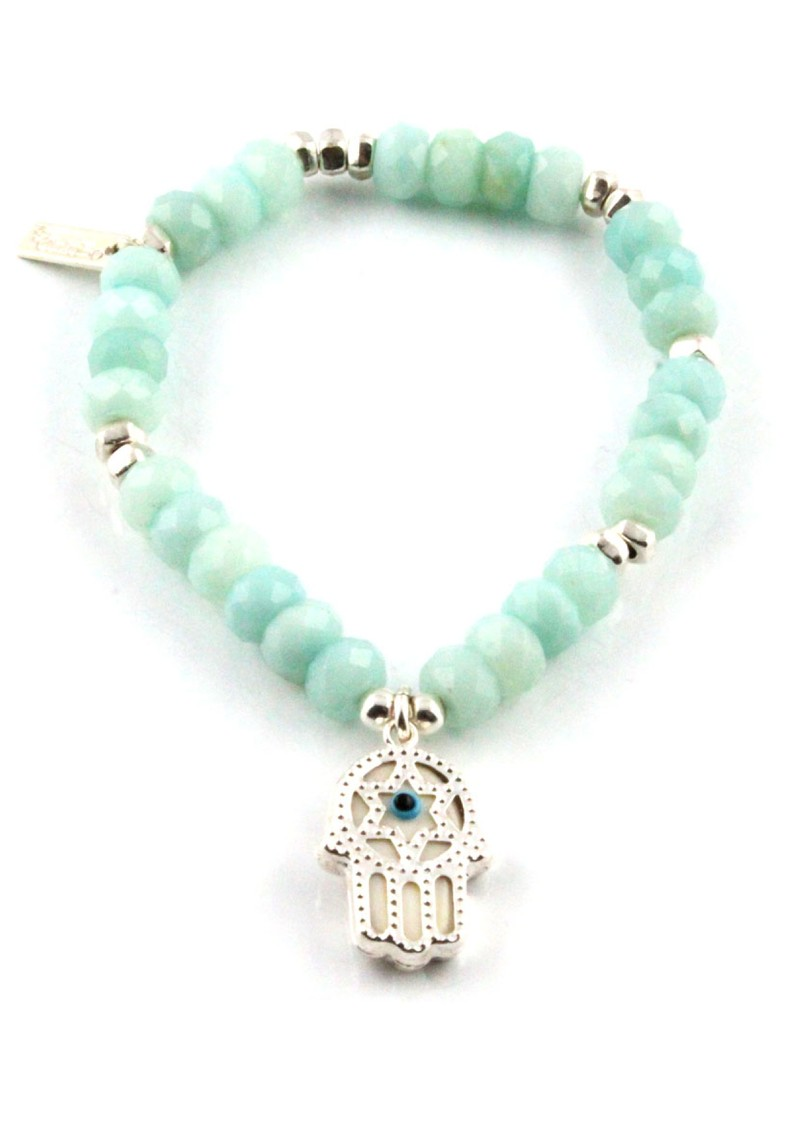Dreamlands Large Amazonite Hamsa Hand Bracelet main image