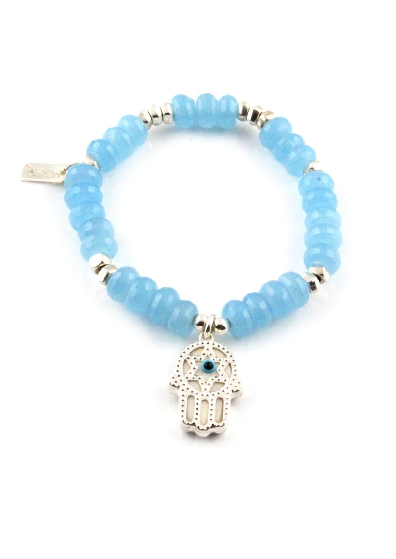 Dreamlands Large Blue Quartz Hamsa Hand Bracelet main image