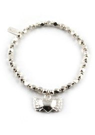 Dreamlands Sophie Silver Bracelet with Winged Heart Charm