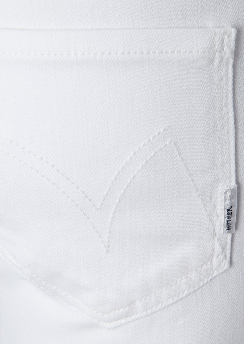 High Waisted Cropped Skinny Jeans - White main image