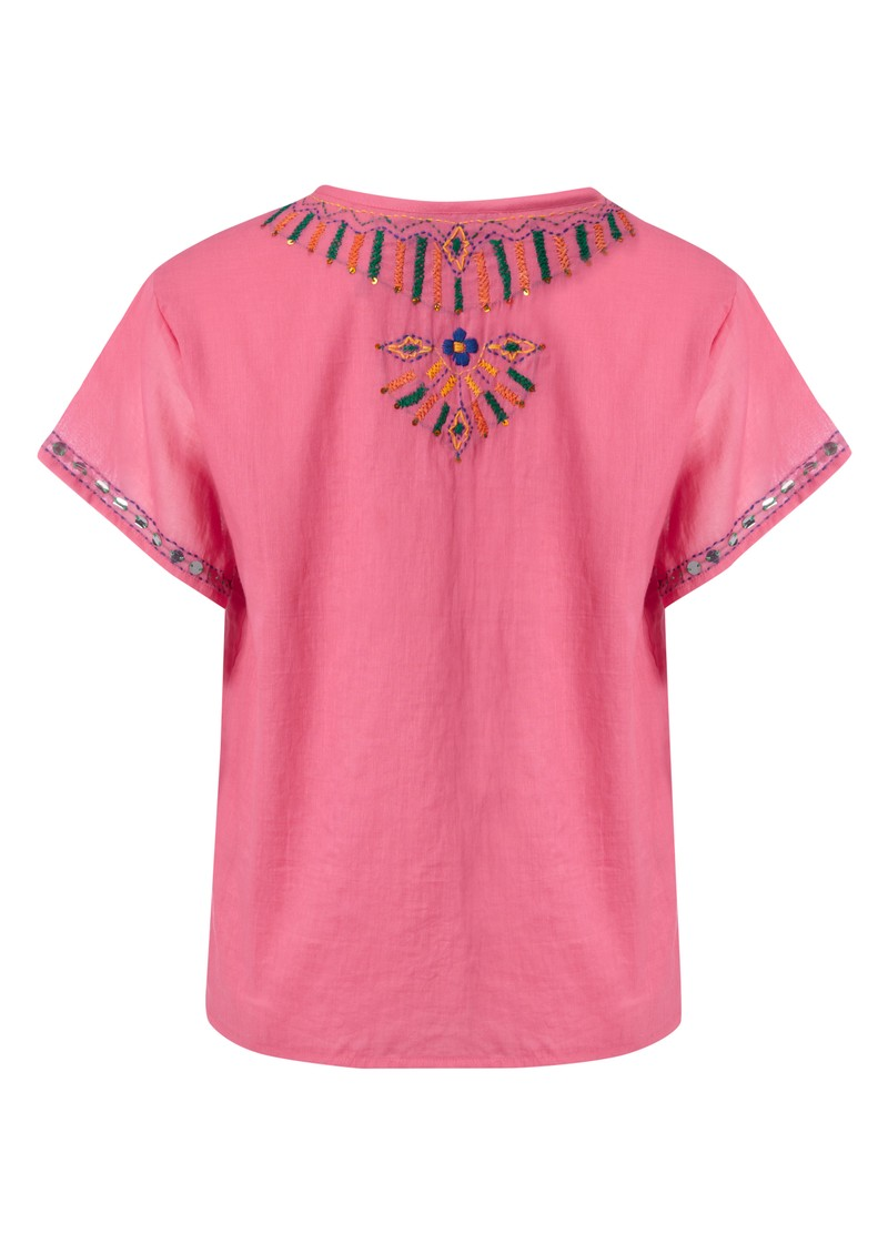 Antik Batik Assini Tee - Pink main image