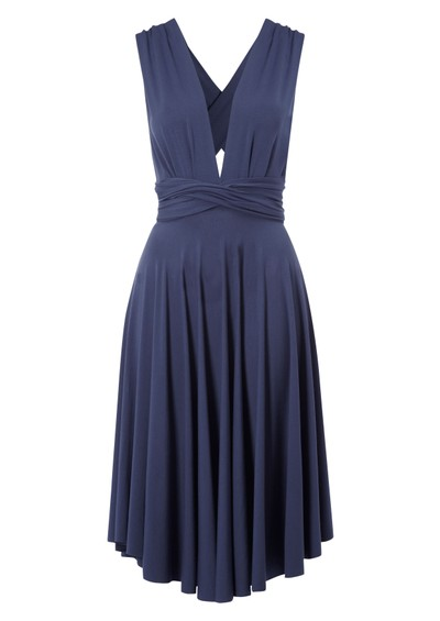 Butter By Nadia Signature Short Jersey Wrap Gown - Cerula main image