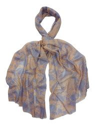 Laine Silk & Wool Mix Scarf - Blue