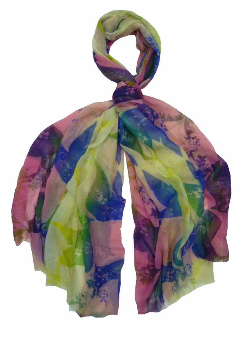 Hayworth Silk & Wool Blend Scarf - Pink main image