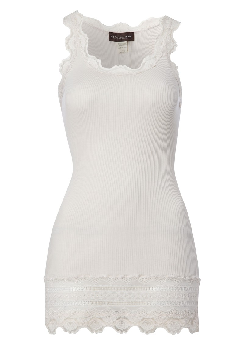 Wide Lace Silk Blend Vest - Soft Powder main image