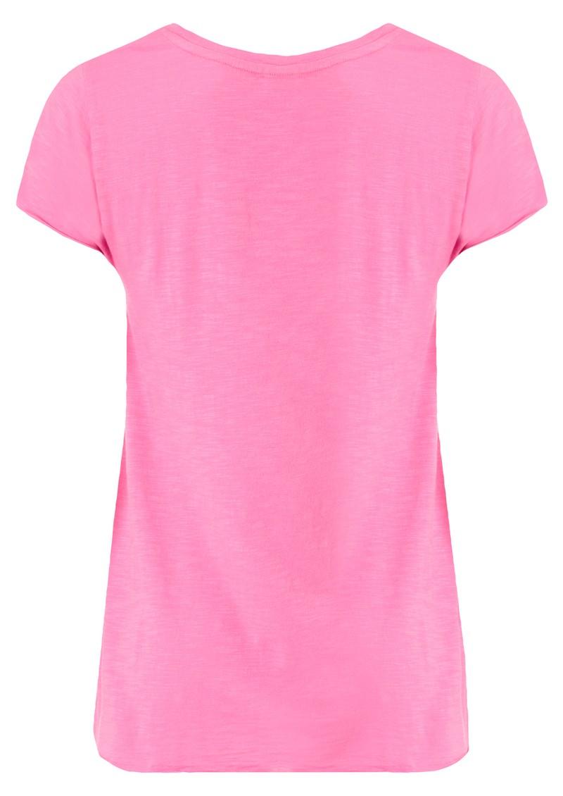 American Vintage Jacksonville Short Sleeve Top - Flash Pink main image