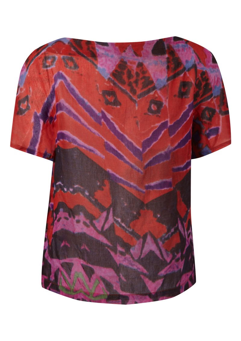 Opyla Silk Mix Print Tee - Red main image