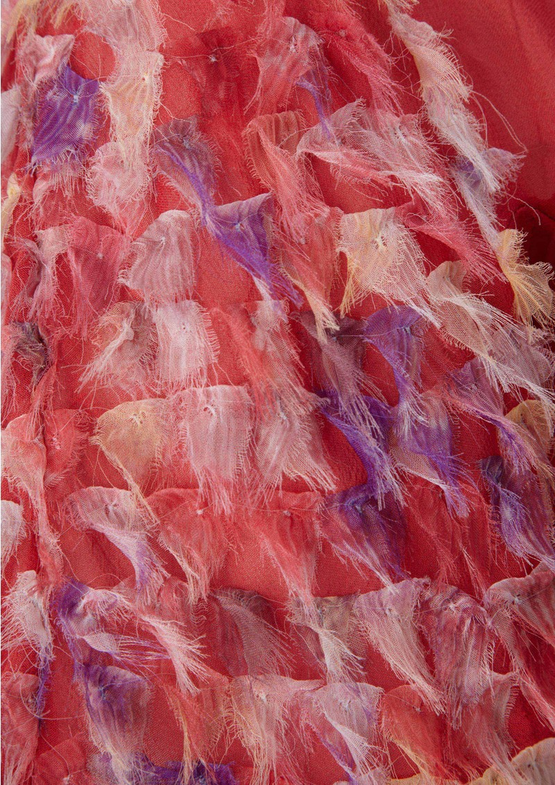Antik Batik Thabana Silk Tee - Red main image