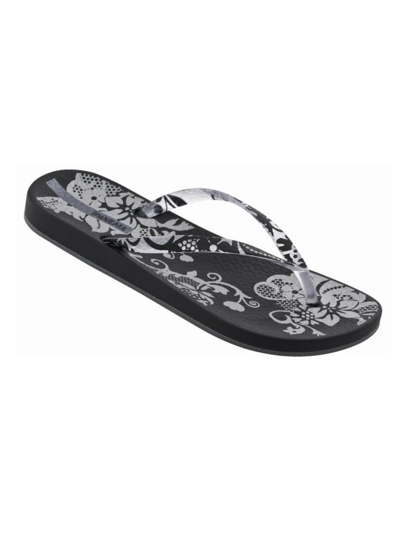 Ipanema Romantic Floral Print Flip Flops - Black main image