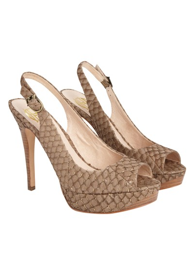 House Of Harlow Nadya Snakeskin Shoes - Brown main image